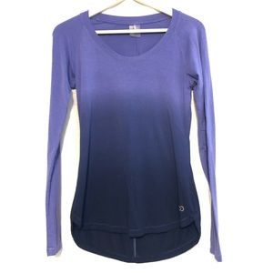 Calia Carrie Underwood Long Sleeve Top Ombre Small